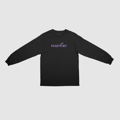 PassPort Lavender L/S Tee Black