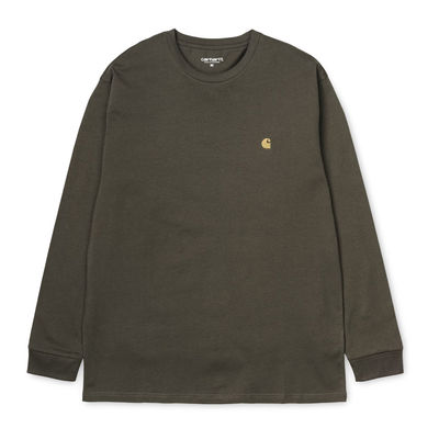 Carhartt WIP L/S Chase T-Shirt Cypress/Gold