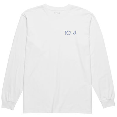 Polar Skate Co. Stenström Fill Logo LS Tee White