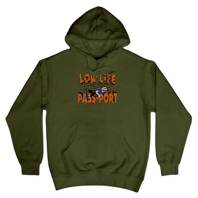 PassPort L.L. Brick Hoodie Army Green