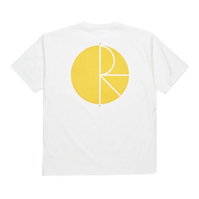 Polar Skate Co. Fill Logo Tee White Yellow
