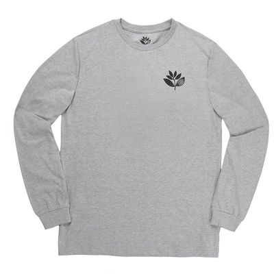 Magenta Plant L/S Tee Heather Grey