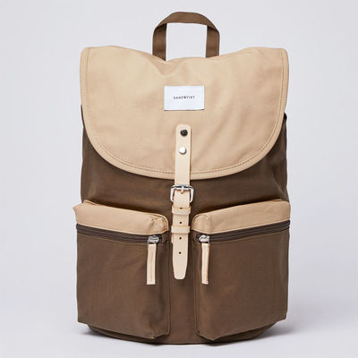 Sandqvist Roald Ground Olive/Beige