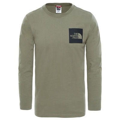 The North Face L/S Fine Tee Deep Lichen Green