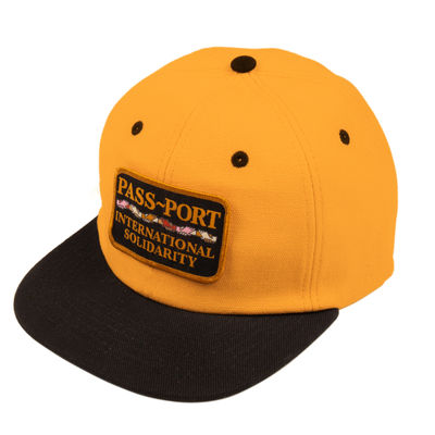 PassPort Inter Solid Patch 6 Panel Cap Gold/Black