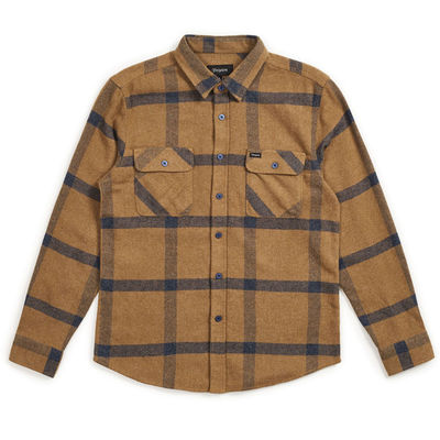 Brixton Bowery L/S Flannel Gold/Navy