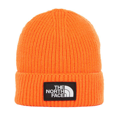 The North Face Logo Box Cuff Beanie Persian Orange