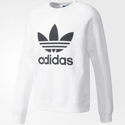 Adidas Originals Trefoil Crew White