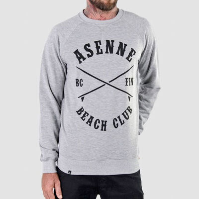 Asenne Beach Club Sweater Grey