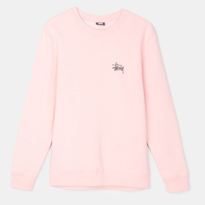 Stüssy Basic Crew Dusty Rose