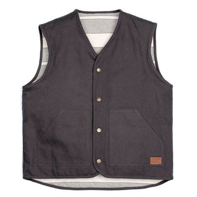 Brixton Anchor Vest Washed Black