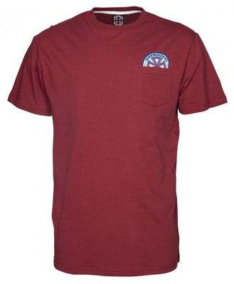 Independent T-Shirt Colours Pocket Burgundy