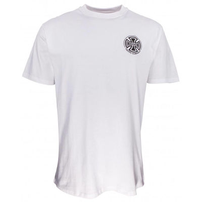 Independent T/C Embroidery T-Shirt White