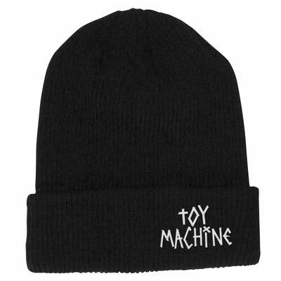 Toy Machine Tape Logo Beanie Black