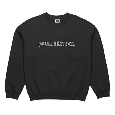 Polar Skate Co. Outline Crewneck Black