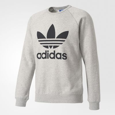 Adidas Originals Trefoil Crew Grey/ Black