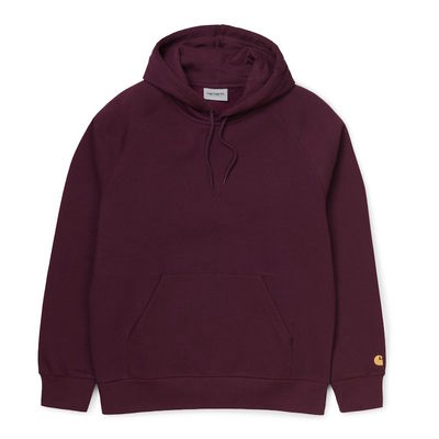Carhartt WIP Hooded Chase Sweat Shiraz/Gold