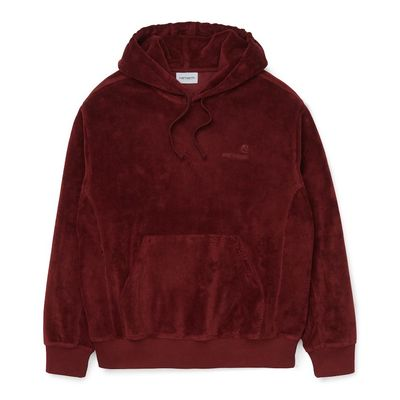 Carhartt WIP Hooded United Script Sweatshirt Bordeaux