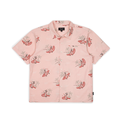 Brixton Bueller S/S Woven Dusty Pink