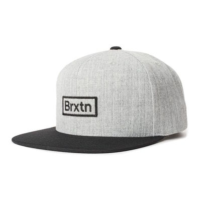 Brixton Gate III MP Snapback Heather Grey/Black/Black