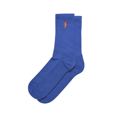 Polar Skate Co. No Comply Socks Royal Blue/Orange