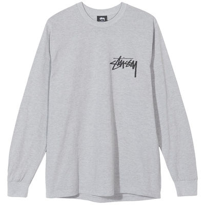 Stüssy Stock L/S Tee Grey Heather