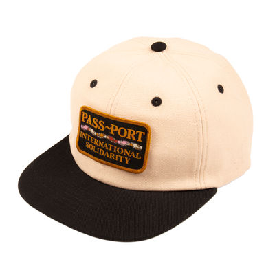 PassPort Inter Solid Patch 6 Panel Cap Natural/Black