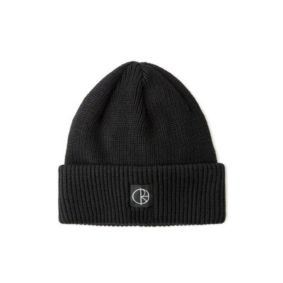 Polar Skate Co. Double Fold Merino Beanie Black / Black
