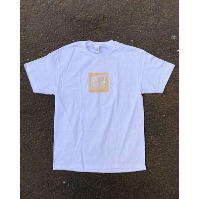 Happy Hour OG Box Logo T-Shirt White