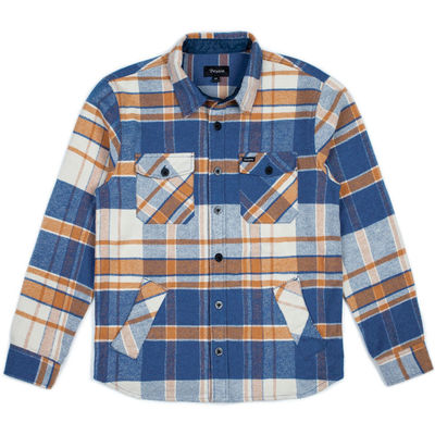 Brixton Durham L/S Flannel Blue/Orange