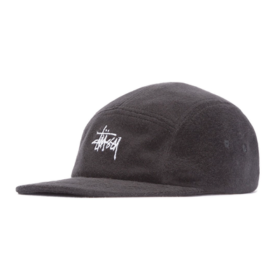 Stüssy Stock Terry Cloth Camp Cap Black