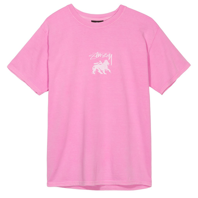 Stüssy Stock Lion Pig. Dyed Tee Pink