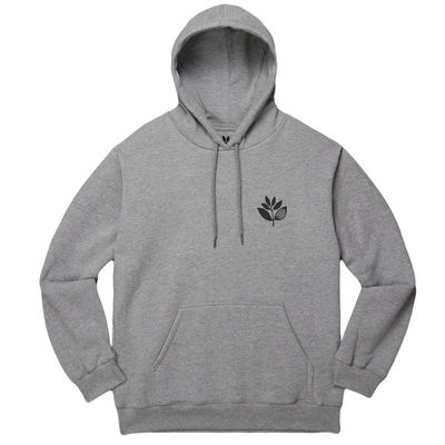 Magenta Plant Hoodie Heather Grey