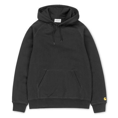 Carhartt WIP Hooded Chase Sweat Black/Gold