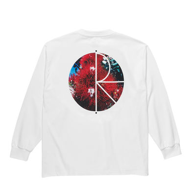 Polar Skate Co. Callistemon Fill Logo Longsleeve White