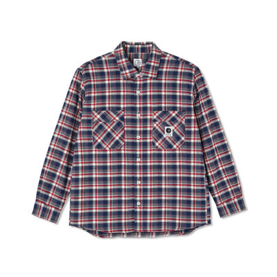 Polar Skate Co. Flannel Shirt Navy/Red