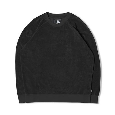 Edwin Van Crew Sweat Terry Reverse Side Black Garment Wash