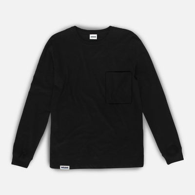 Wawwa Pocket LS T-Shirt Black