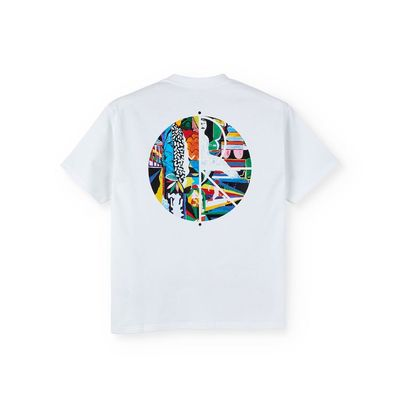 Polar Skate Co. Memory Palace Fill Logo Tee White