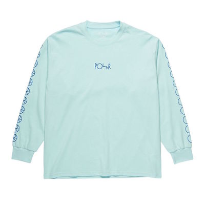 Polar Skate Co. Racing Longsleeve Aquamarine