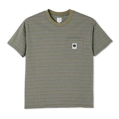 Polar Skate Co. Stripe Pocket Tee Army Green