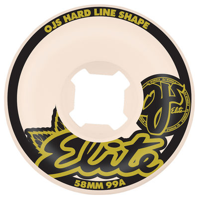 OJ Wheels Elite Hardline 99a White 58 MM