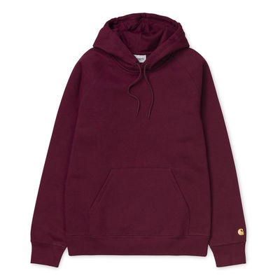 Carhartt WIP Hooded Chase Sweat Cranberry/Gold