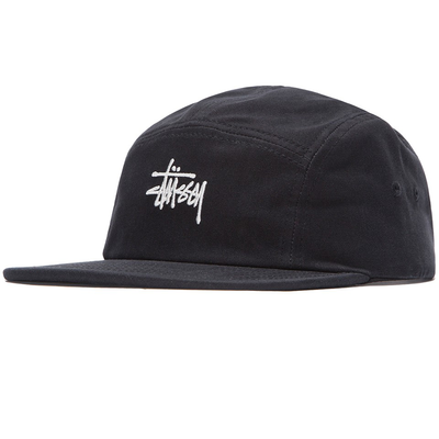 Stüssy Stock Herringbone Camp Cap Black