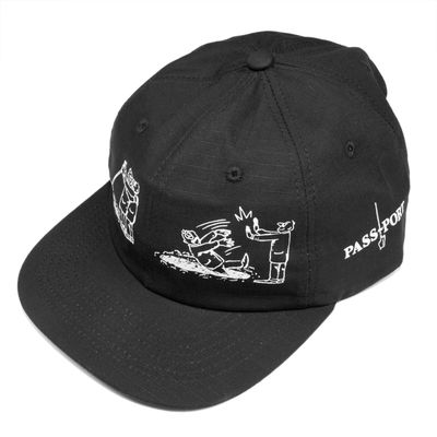 PassPort W.C.W.B.F 6 Panel Cap Black