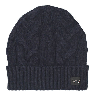 Edwin Shackle Beanie Navy Garment Washed