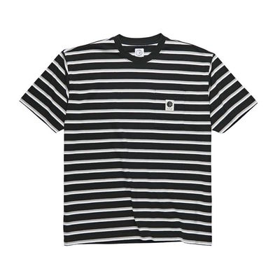 Polar Skate Co. Stripe Pocket Tee Black