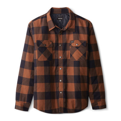 Brixton Bowery Lined L/S Flannel Navy/Copper