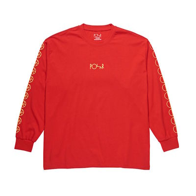 Polar Skate Co. Racing Longsleeve Red