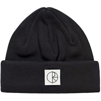 Polar Skate Co. Double Fold Cotton Beanie Black